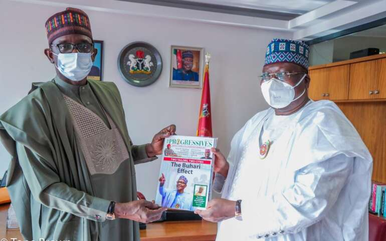 Senate President Recieves The Progressives – APC/PGF Monthly Official Magazine
